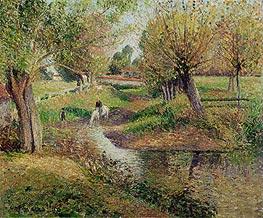 Pissarro | Watering Hole, Eragny, 1895 | Giclée Canvas Print