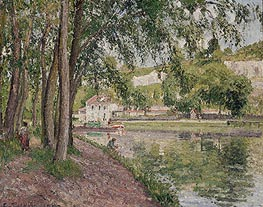 Pissarro | Moret, the Loing Canal (The Towpath at Saint-Mammes), 1902 | Giclée Canvas Print