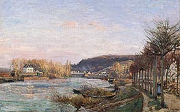 Pissarro | The Seine at Bougival, 1870 | Giclée Canvas Print