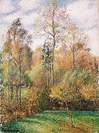 Pissarro | Autumn, Poplars, Eragny, 1894 | Giclée Canvas Print