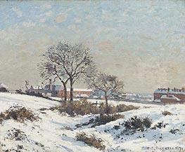 Pissarro | Snowy Landscape at South Norwood, 1871 | Giclée Canvas Print