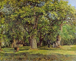 The Forest, 1870 by Pissarro | Giclée Canvas Print