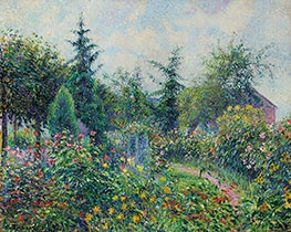 Garden and Henhouse at Octave Mirbeau, Les Damps, 1892 by Pissarro | Giclée Canvas Print