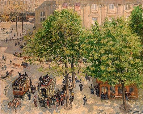 Place du Theatre-Francais. Spring, 1898 | Pissarro | Painting Reproduction