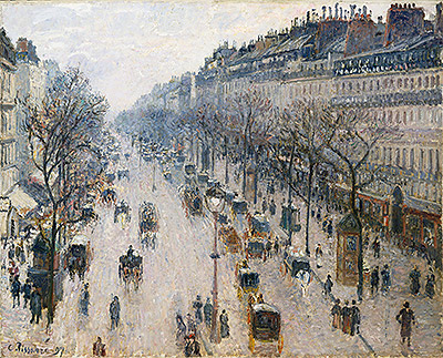 The Boulevard Montmartre on a Winter Morning, 1897 | Pissarro | Painting Reproduction