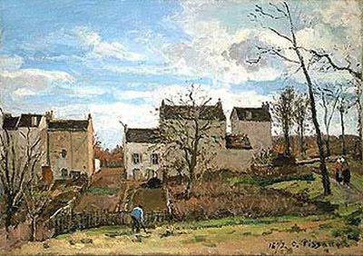 Spring in Pontoise, 1872   Pissarro   Painting Reproduction