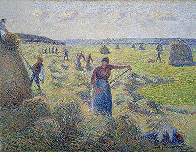 Hay Harvest, 1887 | Pissarro | Painting Reproduction