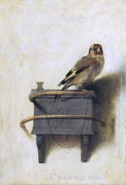 Carel Fabritius | The Goldfinch, 1654 | Giclée Canvas Print