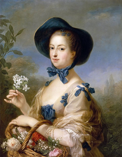 The Marquise de Pompadour as Gardener, c.1754/55   Charles-André van Loo   Painting Reproduction