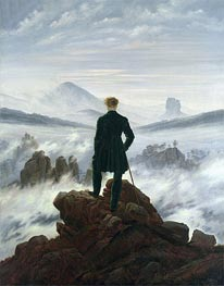 Caspar David Friedrich | The Wanderer Above a Sea of Mist, 1818 by | Giclée Canvas Print