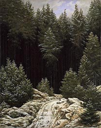 Caspar David Friedrich | Early Snow, c.1828 | Giclée Canvas Print