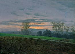 Caspar David Friedrich | Ploughed Field, c.1830 | Giclée Canvas Print