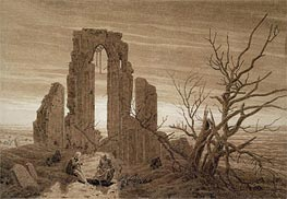 Caspar David Friedrich | Winter (Eldena Abbey near Greitswald), undated | Giclée Paper Print