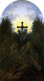 Caspar David Friedrich | Cross in the Mountains, c.1815/20 | Giclée Canvas Print