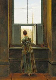 Caspar David Friedrich | Woman at a Window, 1822 | Giclée Canvas Print