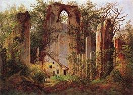 Caspar David Friedrich | Monastery Ruins Eldena, 1825 | Giclée Canvas Print