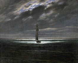 Caspar David Friedrich | Seascape by Moonlight, c.1827/28 | Giclée Canvas Print