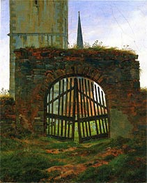 Caspar David Friedrich | The Cemetery (Churchyard Gate), c.1825/30 | Giclée Canvas Print