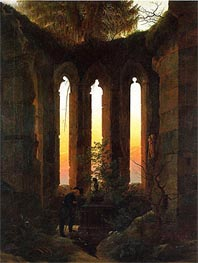 Caspar David Friedrich | Hutten's Tomb, c.1823/24 | Giclée Canvas Print