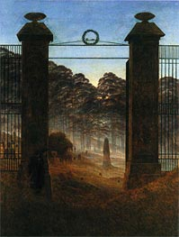 Caspar David Friedrich | The Cemetery Entrance, 1825 | Giclée Canvas Print