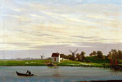 Landscape with Windmills, c.1822/23   Caspar David Friedrich   Painting Reproduction