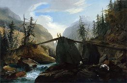 Caspar Wolf | Wooden Bridge over the Lutschine near Gsteig, c.1774/77  | Giclée Canvas Print