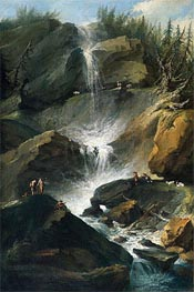 Caspar Wolf | The Upper Staubbachfall in the Lauterbrunnen Valley, c.1774/77  | Giclée Canvas Print