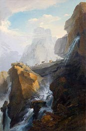 Caspar Wolf | Landscape with Waterfall, Undated | Giclée Canvas Print