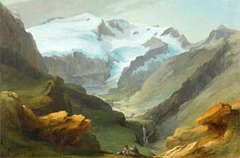Caspar Wolf | Look at the Lauenen Valley with Geltengletscher and Geltenhorn, Undated | Giclée Canvas Print
