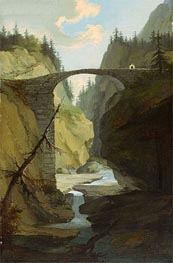 Caspar Wolf | Bridge over the Muota near Schwyz, Undated | Giclée Canvas Print