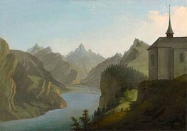 Caspar Wolf | View from Mount Seelis to Lake Uri towards Altdorf, 1777 | Giclée Canvas Print