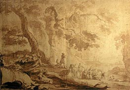 Caspar Wolf | Landscape with Traveling Party, 1768 | Giclée Paper Print
