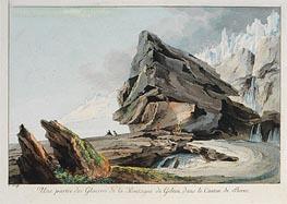 Caspar Wolf | Part of Glacier Mountain Gelten in the Canton of Bern, undated | Giclée Paper Print