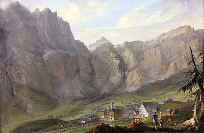 Leuekerbad, c.1774/77 | Caspar Wolf | Painting Reproduction