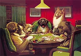 A Waterloo (Dogs Playing Poker), 1906 by Cassius Marcellus Coolidge | Giclée Canvas Print