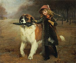 Off to School, 1883 by Charles Burton Barber | Giclée Canvas Print
