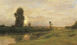 Charles-Francois Daubigny   Moonrise on the Banks of the River Oise, 1874   Giclée Canvas Print