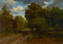 The Crossroads of the Eagle's Nest, Fontainebleau Forest, c.1843/44 by Charles-Francois Daubigny | Giclée Canvas Print