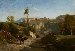 Landscape near Crémieu, c.1849 by Charles-Francois Daubigny | Giclée Canvas Print