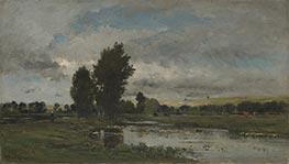 French River Scene, 1871 by Charles-Francois Daubigny | Giclée Canvas Print