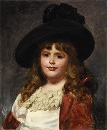 Laura at Seven, 1887 by Carolus-Duran | Giclée Canvas Print