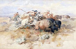 A Kiowa's Odyssey: The Buffalo Hunt, 1877 by Charles Marion Russell | Giclée Paper Print