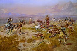 The Death Song of Lone Wolf, 1901 by Charles Marion Russell | Giclée Canvas Print