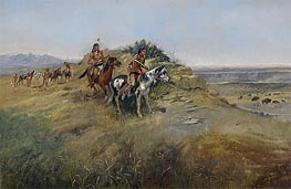 Buffalo Hunt, 1891 by Charles Marion Russell | Giclée Canvas Print