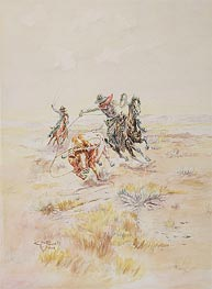 Charles Marion Russell   Cowboys Roping a Steer   Giclée Canvas Print