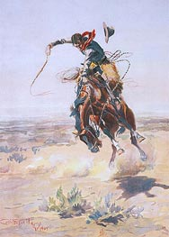 Charles Marion Russell | A Bad Hoss, 1904 | Giclée Paper Print