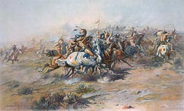 The Custer Fight, c.1903/05 by Charles Marion Russell | Giclée Paper Print