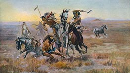 When Sioux and Blackfeet Met, 1902 by Charles Marion Russell | Giclée Canvas Print