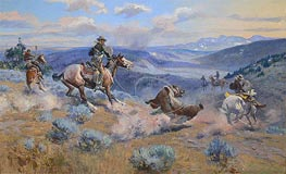 Loops and Swift Horses are Surer than Lead, 1916 by Charles Marion Russell | Giclée Canvas Print