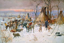 Indian Hunters' Return, 1900 by Charles Marion Russell | Giclée Canvas Print